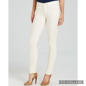 Eileen Fisher Off White Textured Jeans